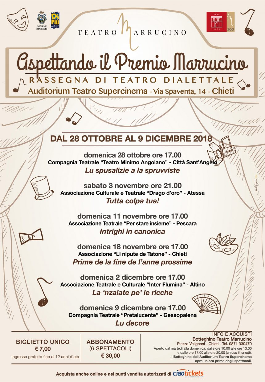 """Rassegna di Teatro Dialettale """"ASPETTANDO IL PREMIO MARRUCINO"""""""