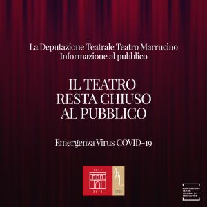 Il Teatro Marrucino rimane chiuso al pubblico