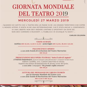 GIORNATA MONDIALE DEL TEATRO Mercoledì 27 Marzo 2019