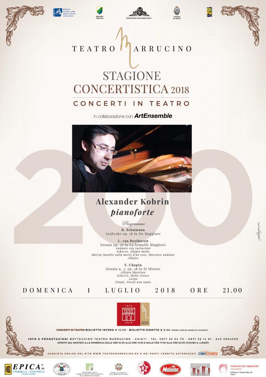 Posticipo orario Concerto Alexander Kobrin 01 luglio